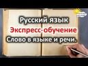 Русский язык. Экспресс обучение. Урок №1