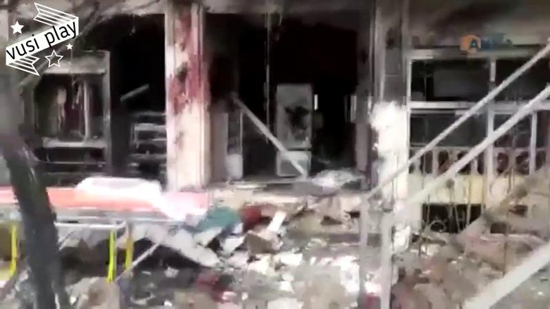 Место взрыва теракта в Сирии Манбиджа