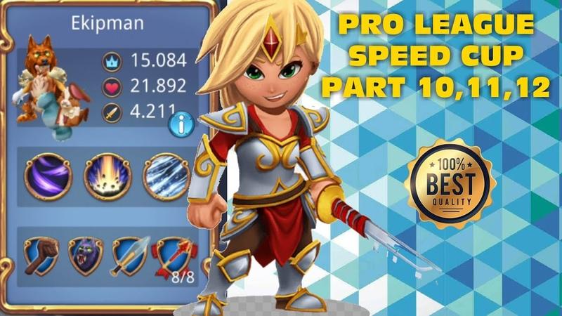 Royal Revolt 2 l Pro League Speed Cup Part 10,11,12