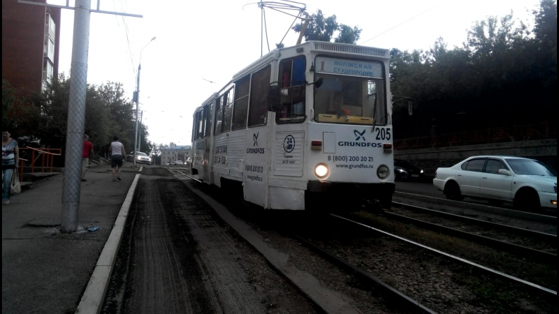 Трамвай КТМ-5 в Иркутске.