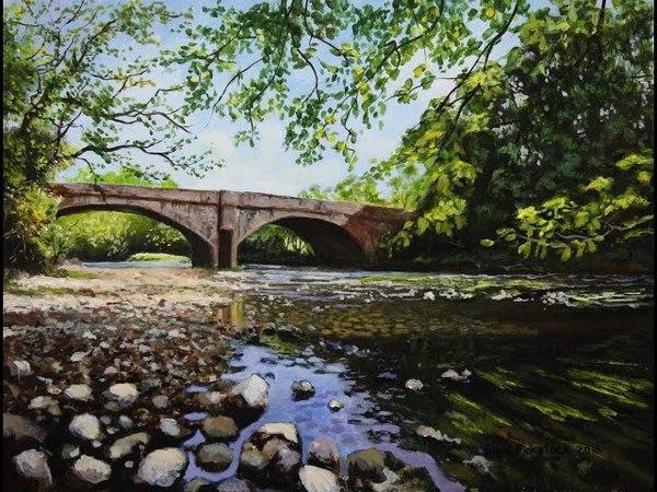 Landscape Acrylic Painting Time Lapse | Chris Pickstock Art