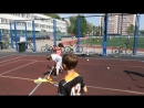 Карусель флорбола. Летняя спортивная площадка «Школа мяча»