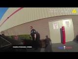 Сработала сигнализация на складе, поймали воров, полиция США ( как ОВО)