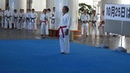Goju ryu kata by Kurashita Eiki sensei to celebrate 'Karate Day' in Okinawa October 25th 2012