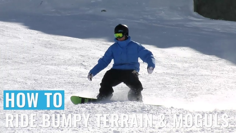 How To Ride Bumpy Terrain Moguls On A Snowboard