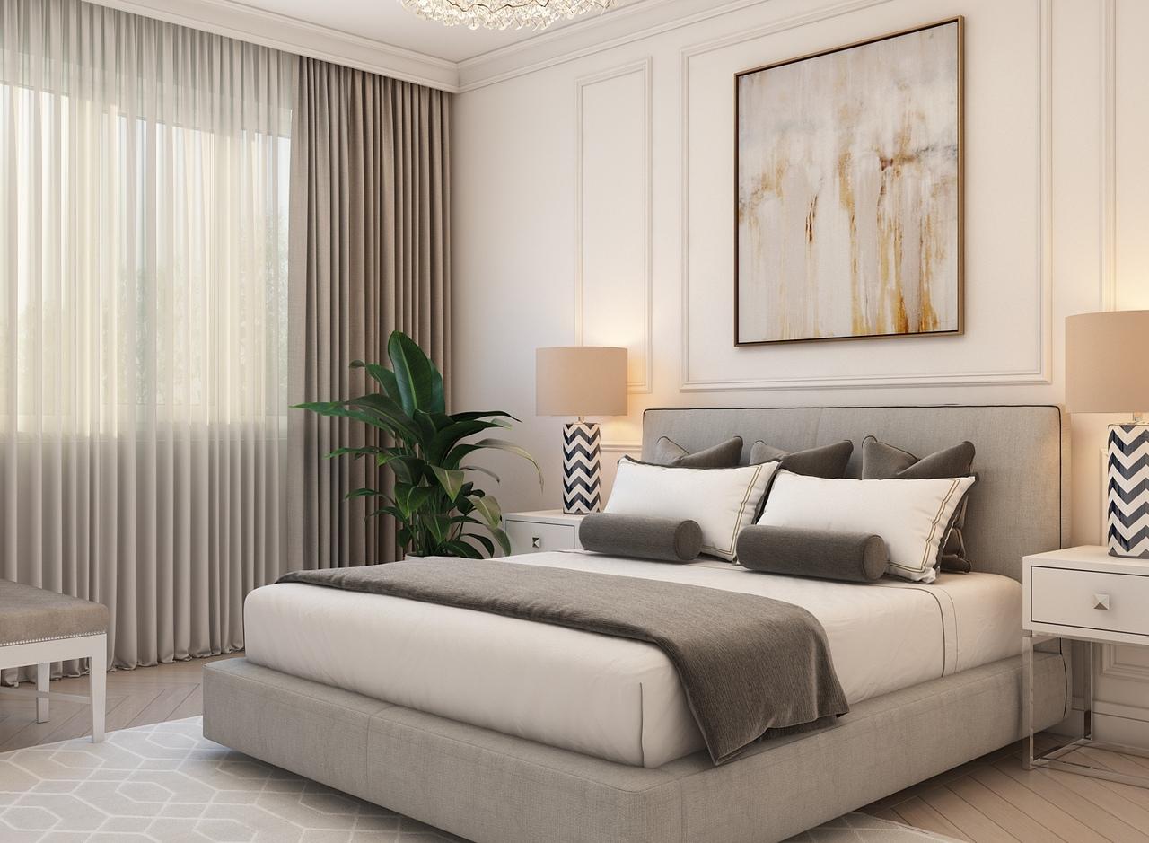 Дизайн спальни 15 кв.