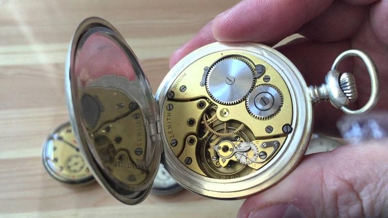 Моя коллекция карманных часов - LUC, Zenith, Молния