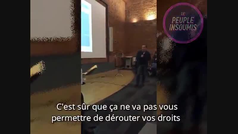 Le député Adrien Taquet enfariné à Toulouse ! Les membres d'une association d'handicapés ont jeté de la farine et du ketchup
