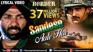 Sandese Aate Hai - Lyrical Video | Border | Sunny Deol, Sunil Shetty | Best Patriotic Hindi Song