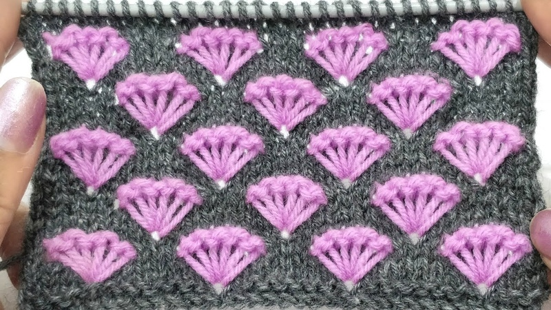 Fancy Two Colour Knitting Pattern for Frocks, Yokes, Cardigans, Shawls, Socks, Jackets HindiEng.