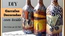 DIY : GARRAFAS DECORADAS COM TECIDO - reciclagem de garrafa