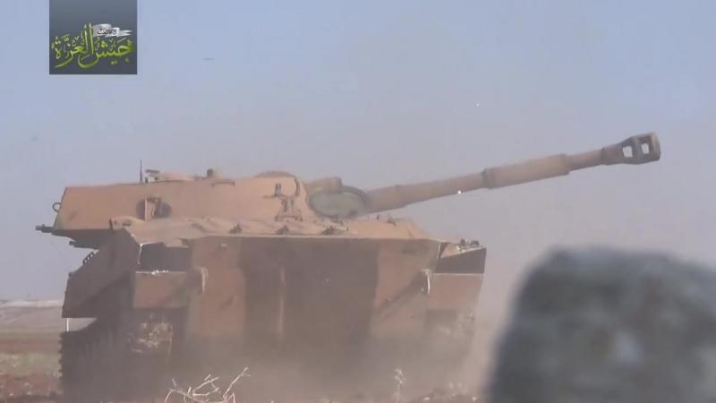 Армия гордости обстреливает САА из Гвоздики.