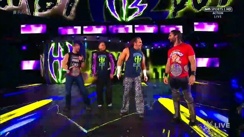 Seth Rollins and Dean Ambrose and The Hardy Boyz Entrance - RAW: Sept 11. 2017 (HD)
