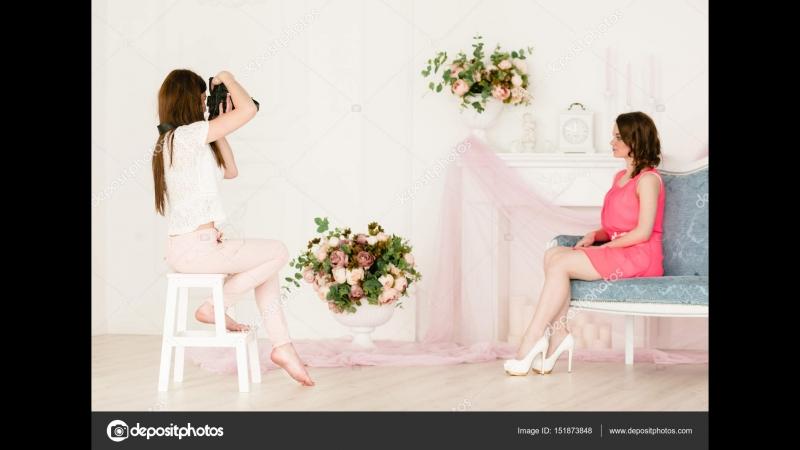 Профессиональная фотосессия видео бэк backstage в студии модели Москва красивые девушки видео ролик