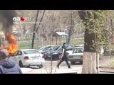 На Ново Садовой вспыхнула «Нива»
