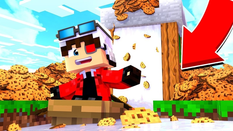 САМАЯ ДЛИННАЯ БАШНЯ ИЗ ПЕЧЕНЕК И МОЛОКА В МАЙНКРАФТЕ БИТВА ПЕЧЕННЫХ БАШЕН Minecraft