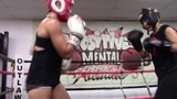 female fighters sparring at outlaws EsNews Boxing