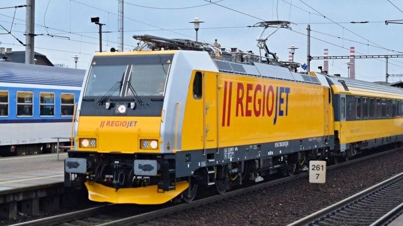 RegioJet ● Bombardier TRAXX MS2 ve stanici Ostrava-Svinov