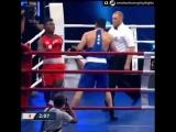 Матчевая встреча по боксу сборной Кубы против сборной России.