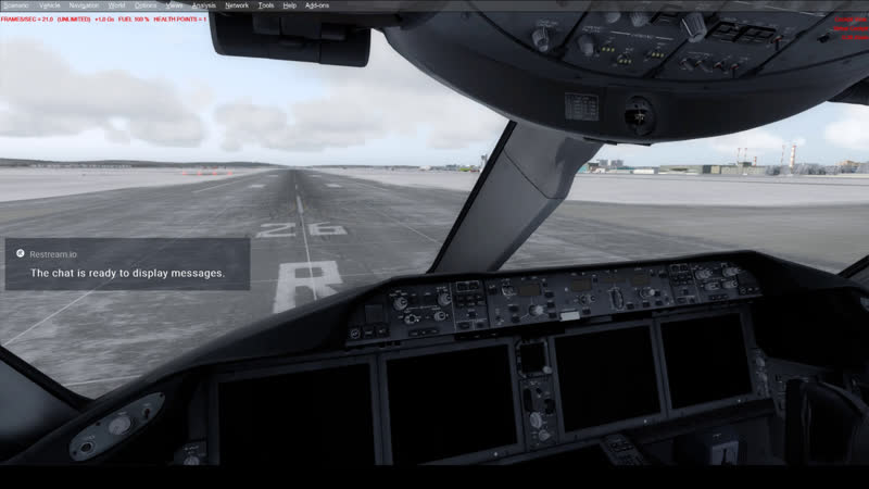 [P3D] Настраиваю трансляцию, Boeing 787-9 Кольцово Екатеринбург, полет по кругу