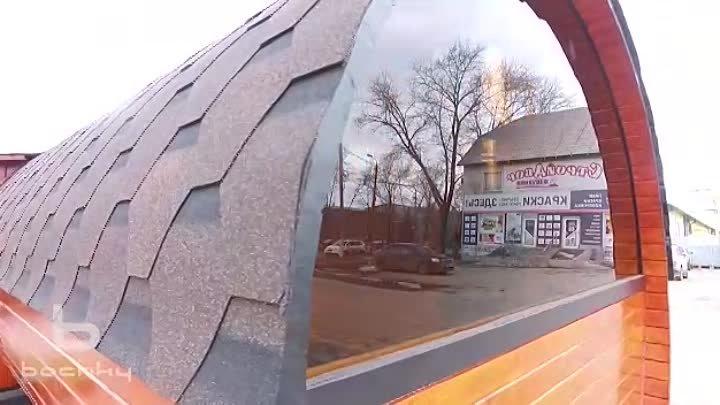 Баня бочка Эксклюзив СВ 6 м с панорамным видом