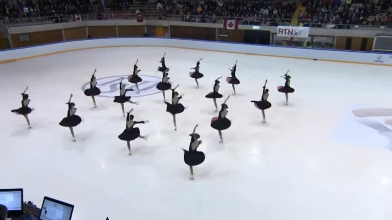 Кристалл Айс Произвольная программа Чемпионат мира по синхронному катанию среди юниоров 2019