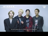180903 Greeting message from WINNER to Singapore INNER CIRCLE!