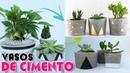 Faça Você Mesmo | Vasos de Cimento Para Plantas | Viviane Magalhães