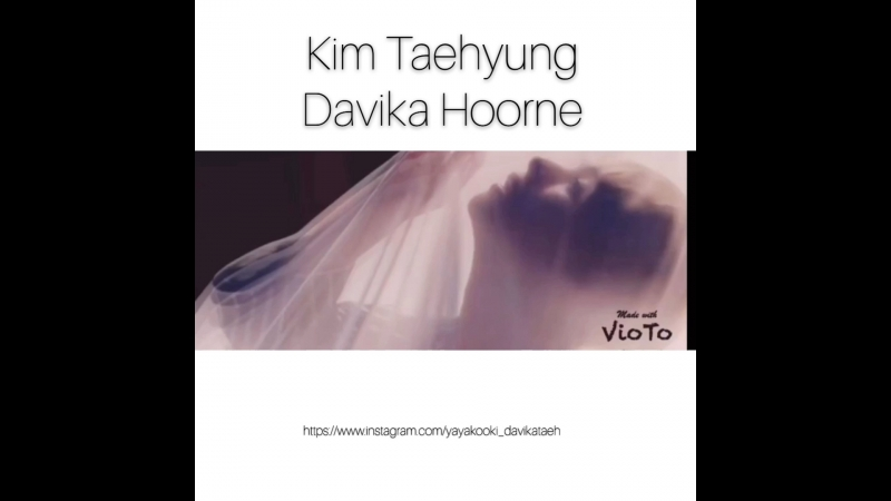 Blood sweat tears Kim Taehyung and Davika Hoorne