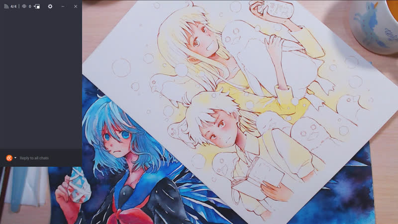 Watercolor Traditional Drawing