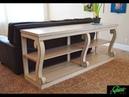 Стол-консоль с фигурными ножками, Сделай сам, 2019, Table console with figured legs, DIY