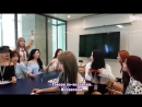 RUSB WJSN Cosmic Girls в здании Naver 12.09.2018