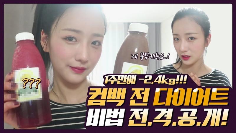 🌷뽐 리즈 갱신🌷 '1도없어' 컴백 전 다이어트 비법 전격공개!! 몸무게 인51