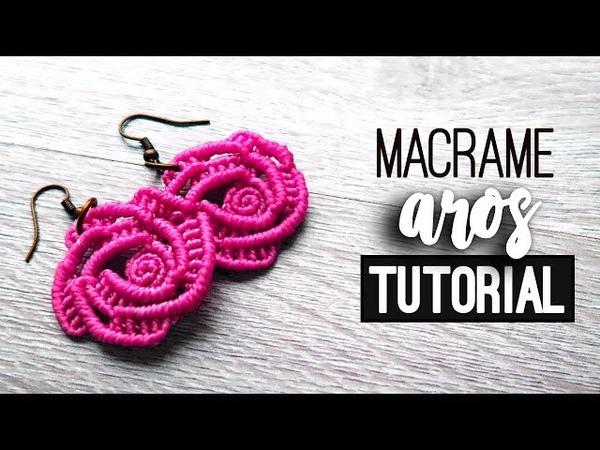 Aros de rosa » 🌹 tutorial   como hacer   diy ● Earrings 121