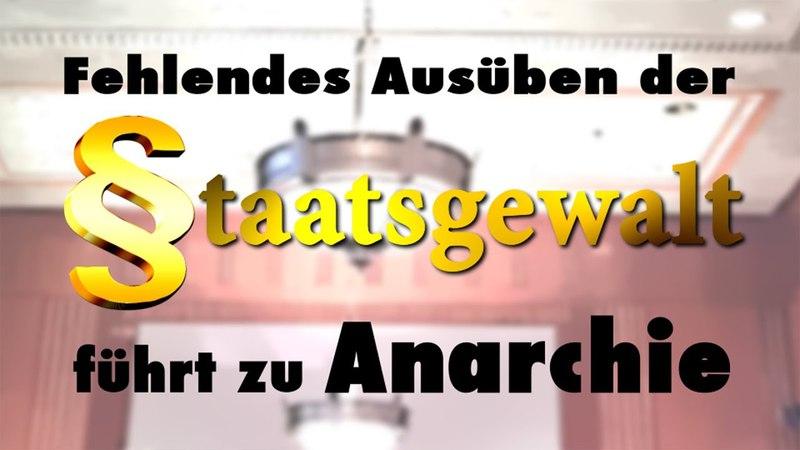 Fehlendes Ausüben der Staatsgewalt führt zu Anarchie | 30.04.2018 | www.kla.tv/12368