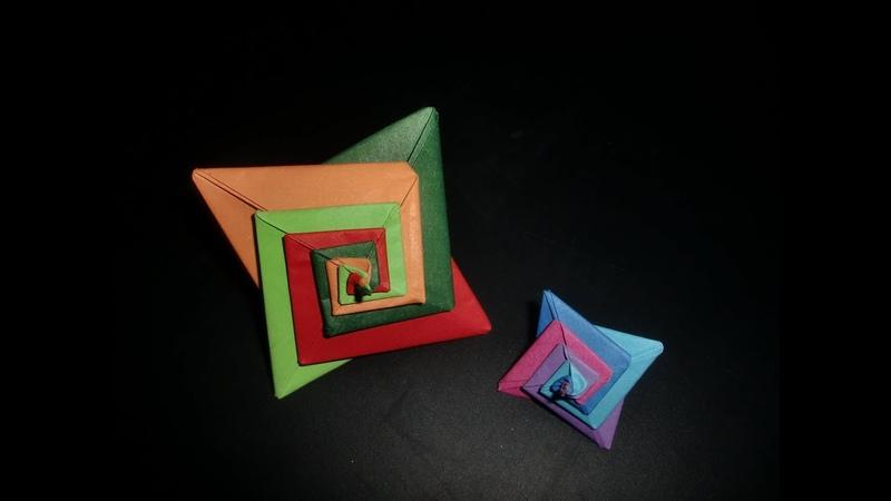 Origami Spiralstern Coulored Stars - Tutorial [HDdeutsch]