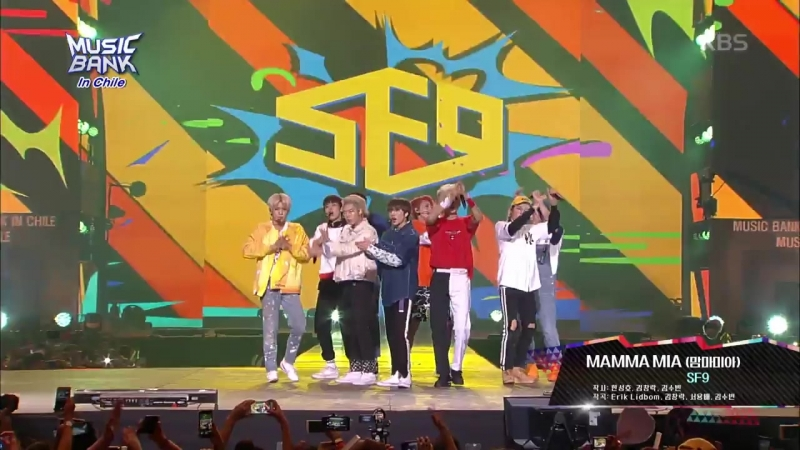 180411 SF9 MAMMA MIA 맘마미아 @ Music Bank in Chile
