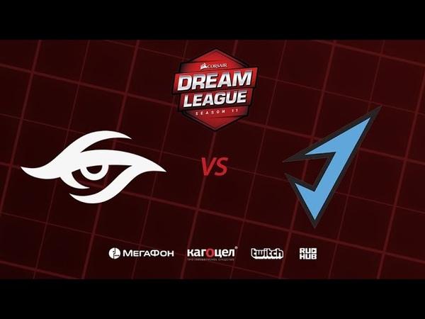 Team Secret vs J.Storm, DreamLeague Season 11 Major, bo3, game 1 [Adekvat Smile]