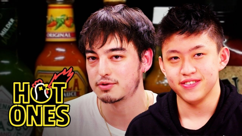 Joji and Rich Brian Play the Newlywed Game While Eating Spicy Wings - Hot Ones