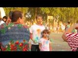 20.07.2018г. Гуляют дети на площади райцентра с.им. Бабушкина. Фестиваль красок