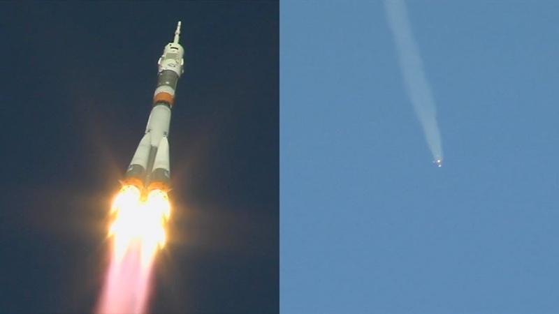 Soyuz MS-10 launch (unedited)
