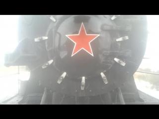 Отправление ретропоезда с паровозами Су250 - 74 и Эр766 - 41 (Тендер Эр786 - 19), Витебское направление.