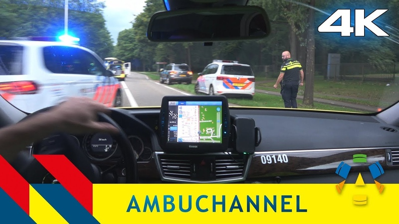 4K Ambulance POV: Emergency response to an accident where a woman was hit by a taxi.
