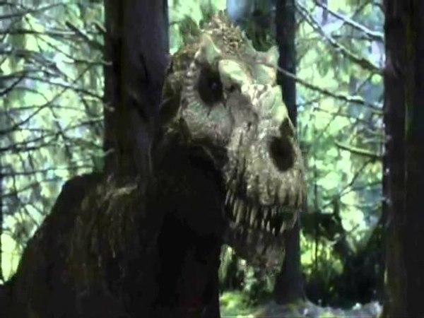 Dinosaur revolution T-rex fight resound
