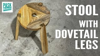 Stool with Dovetail Legs Scrapwood Challenge Day One