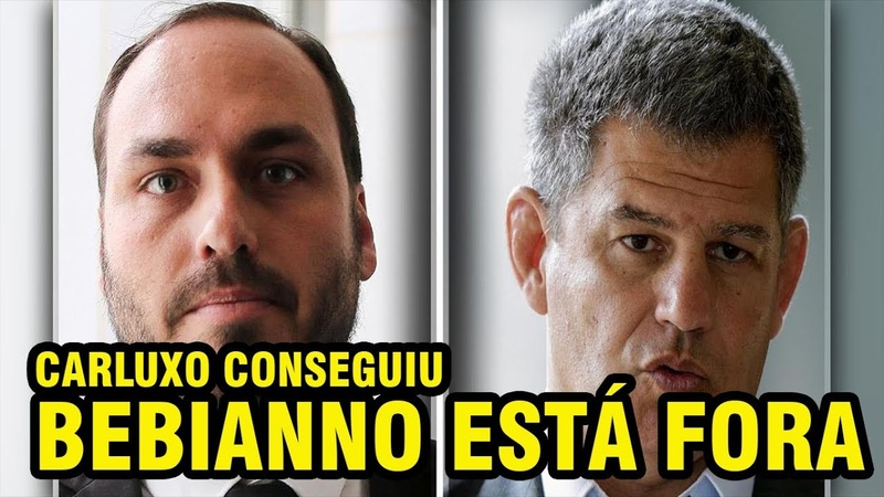 CARLOS BOLSONARO CONSEGUIU BEBIANNO DEIXARÁ O GOVERNO CRISE SE INSTAURA
