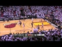 Final Minute (without timeout) of the Game 6 NBA FINALS 2013