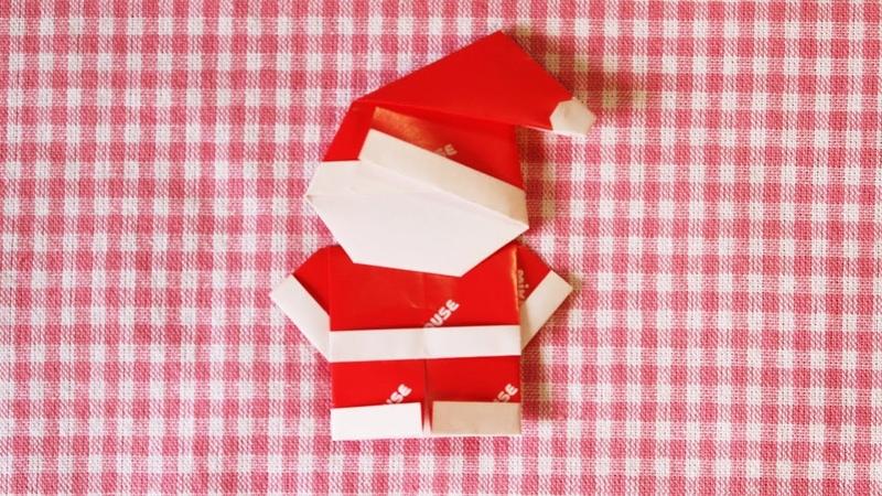 クリスマス折り紙「サンタクロース」折り方Christmas origami Santa Claus How to fold