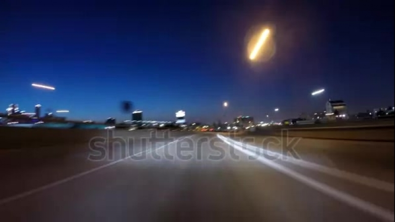 Stock-footage-night-driving-time-lapse-of-the-santa-monica-freeways-towards-downtown-los-angeles-california