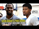 Kevin Durant Paul George LIGHT IT UP at Rico Hines Private Runs Warriors Trio Looking Nice